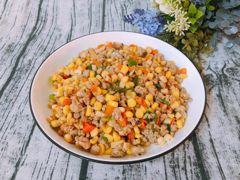 清冰箱料理-玉米炒絞肉