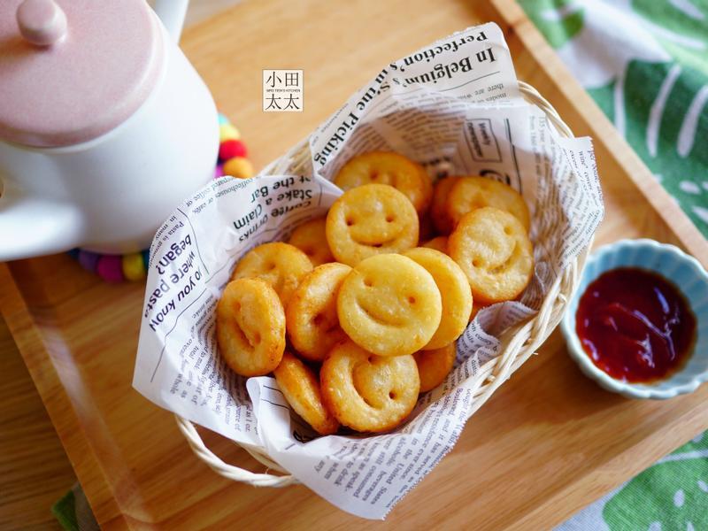 簡易微笑薯餅~親子DIY好吃又好玩!