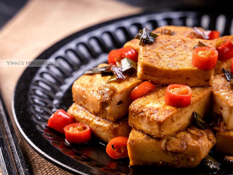 蔥燒雞蛋豆腐【家常料理】【豆腐不破訣竅】