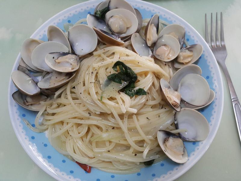 蒜香蛤蜊義大利面