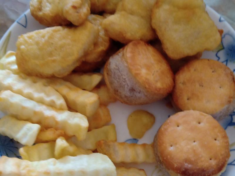 氣炸鍋拼盤 薯條 雞塊 芋餅