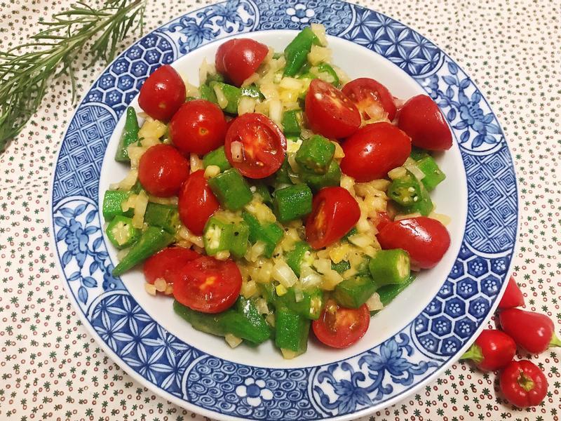 秋葵蕃茄沙拉~法式風