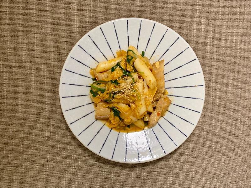 韓式辣炒豬肉年糕(10分鐘上菜)
