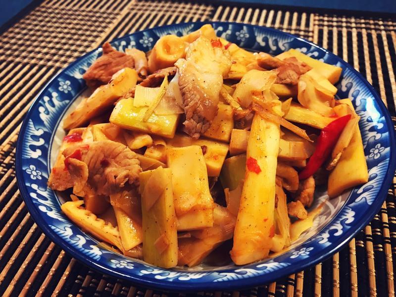 桂竹筍炒肉絲