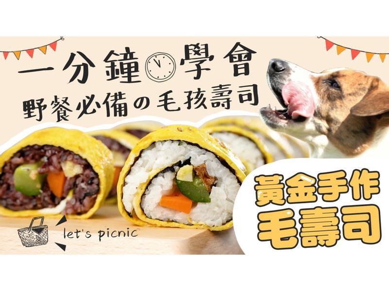 【毛爸鮮食】黃金手作毛壽司(寵物料理)