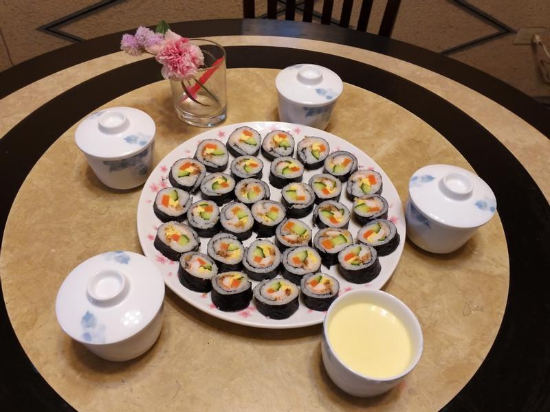 母親節大餐-壽司+茶碗蒸