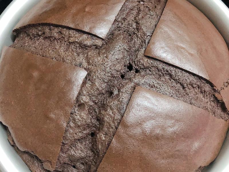 巧克力戚風蛋糕~略苦&少糖