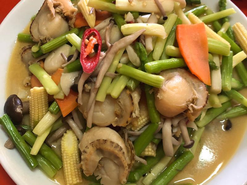 蘆筍帆立貝菇菇