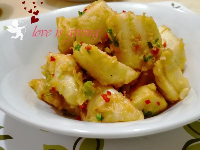 鹹蛋椒鹽拌竹筍