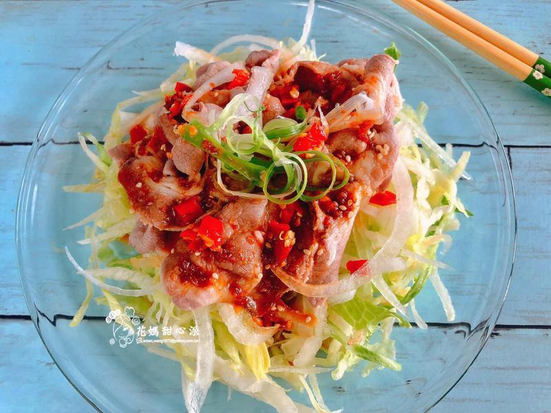 日式麻醬沙拉拌肉片(15分鐘涼拌料理)
