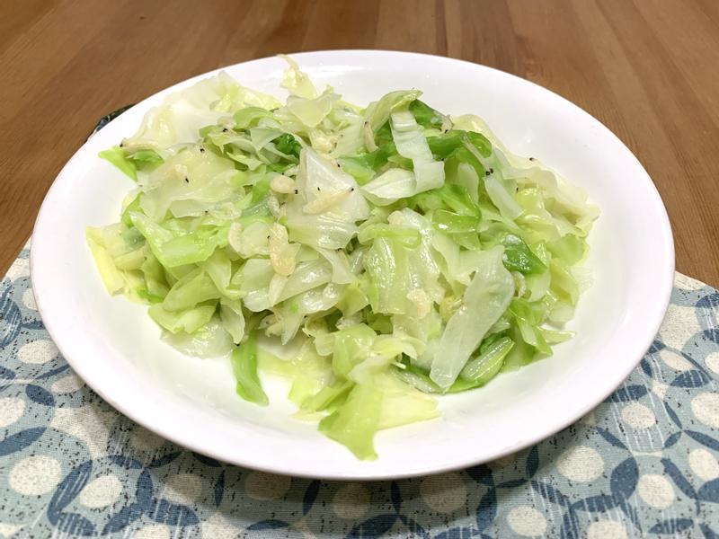 蝦皮炒高麗菜