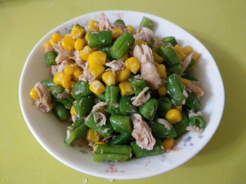 玉米鮪魚炒豆豆