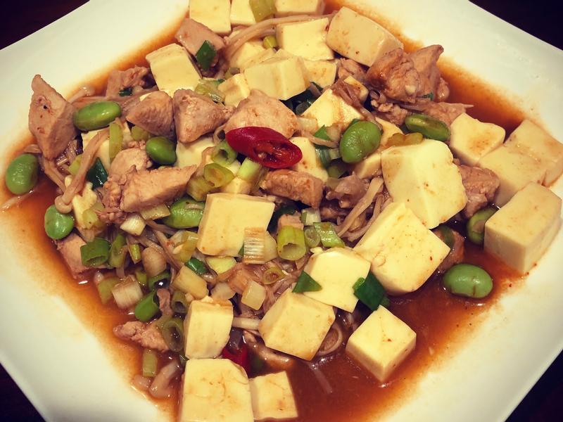 高蛋白「麻婆雞胸蛋豆腐」715卡