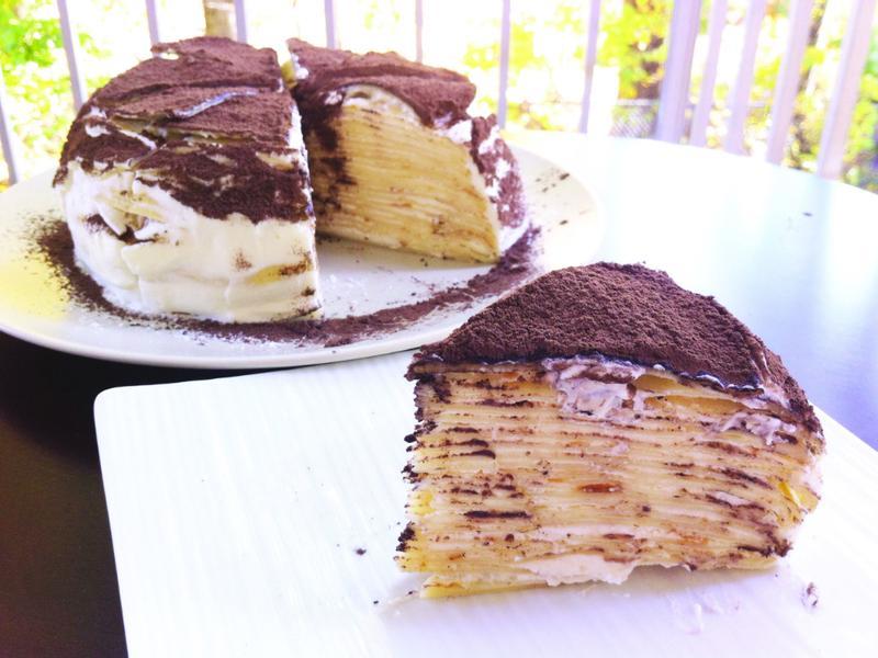 [法式甜點]千層岩燒蛋糕 Crepe Cake