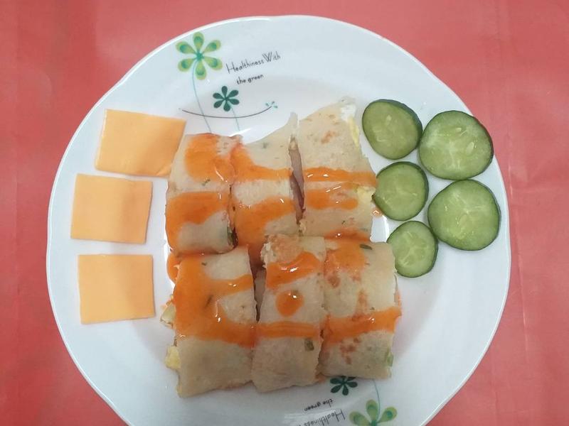起司熱狗蔥花蛋餅