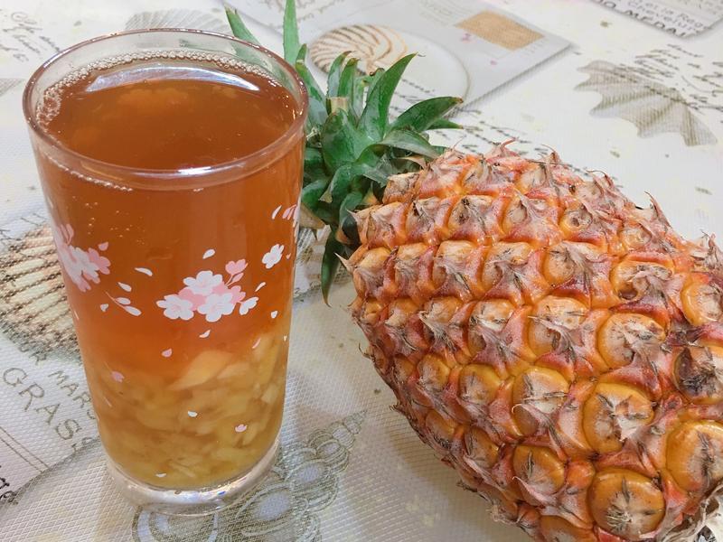 消暑解渴的鳳梨冰茶/鳳梨紅茶🍍