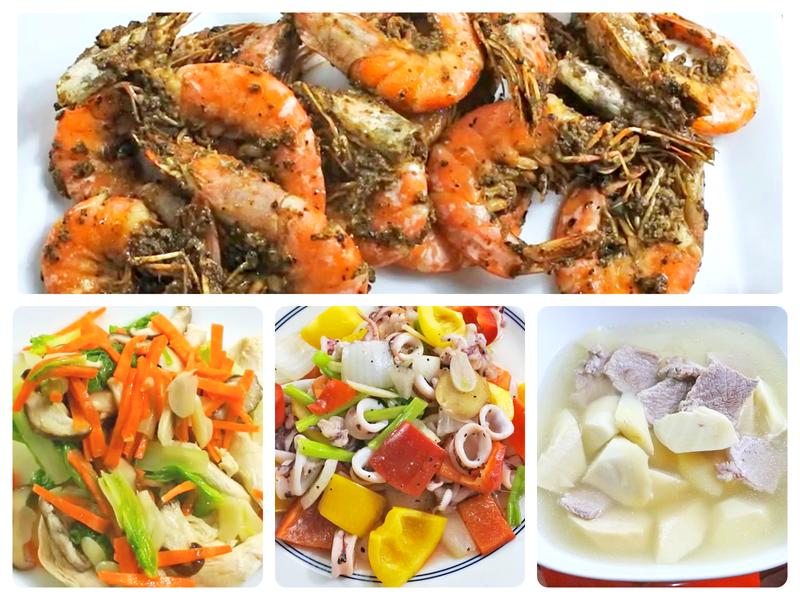 嫩雞柳、炒透抽、乾燒胡椒蝦-美味低溫料理