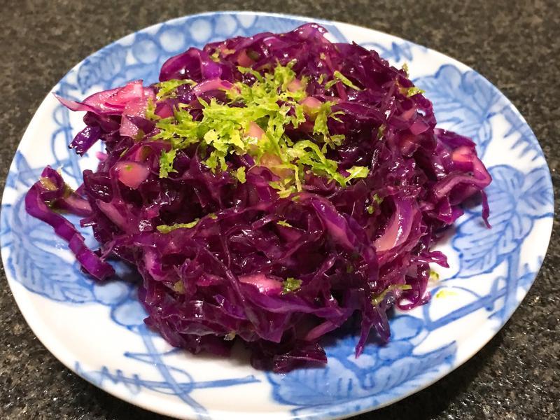 涼拌紫高麗菜~全素