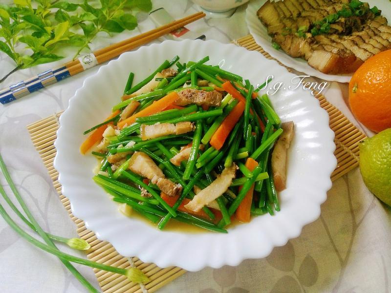 鹹豬肉炒韭菜花