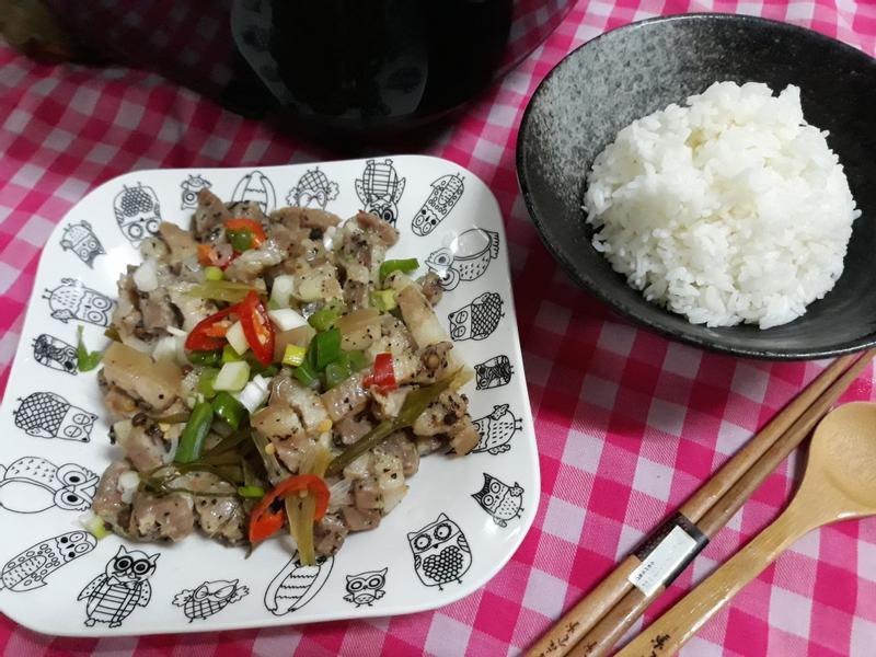 一鍋多菜版食譜─清蒸鹹豬肉