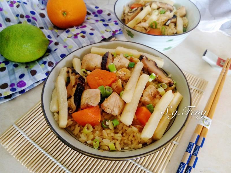 香菇竹筍雞肉炊飯(電子鍋版)