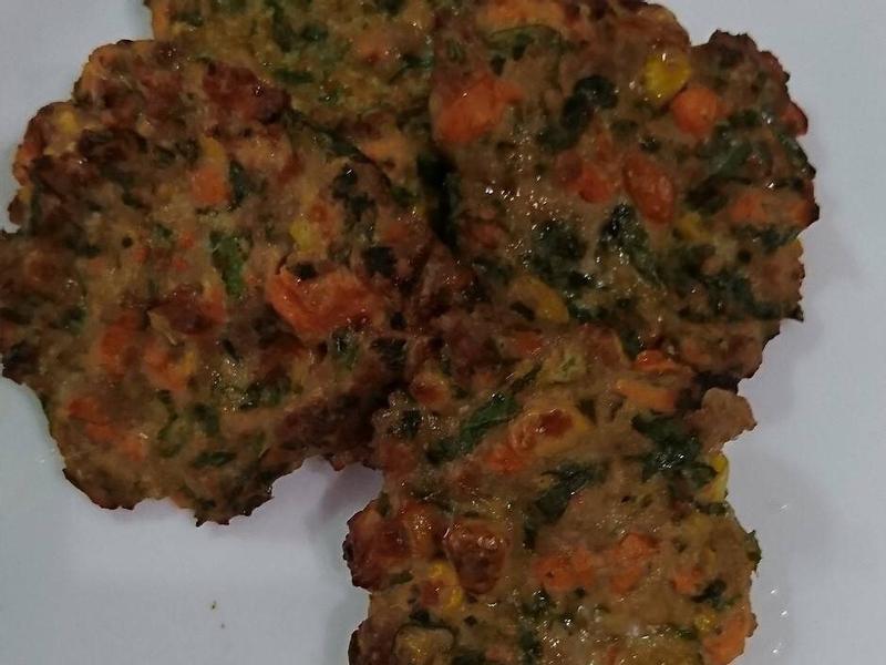 蔬菜肉餅-新店民權氣炸鍋食譜