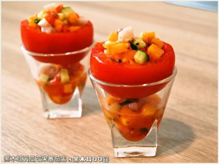 黑木耳黃瓜芒果番茄盅.柯媽媽の植物燕窩