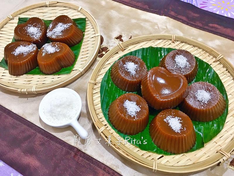 椰奶黑糖糕(Kutsinta)