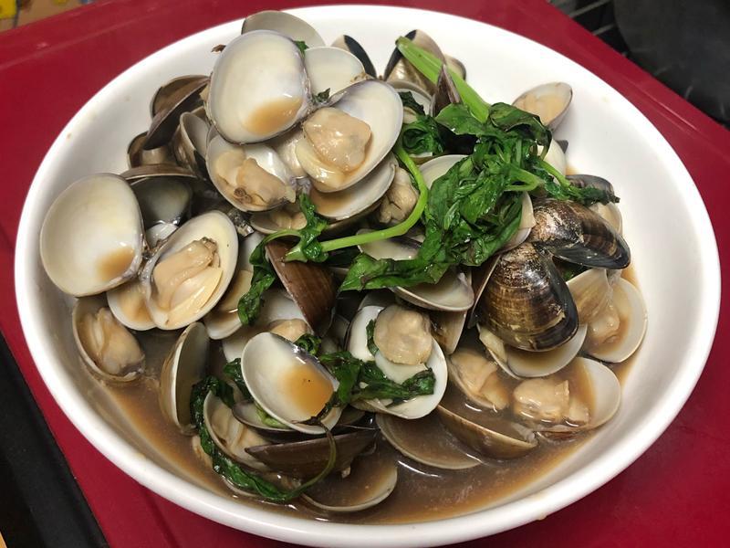 塔香蒜味炒蛤蜊-飽滿多汁不乾扁