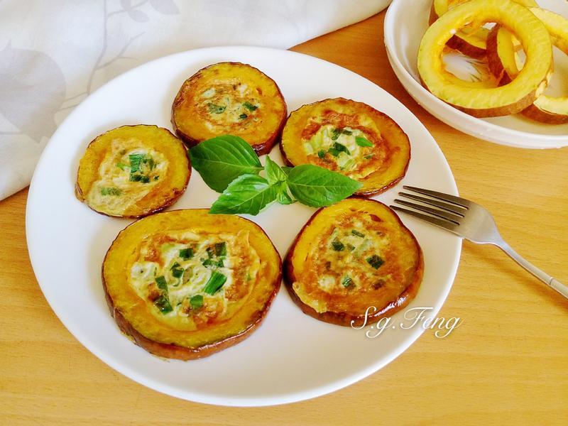 南瓜圈蔥蛋