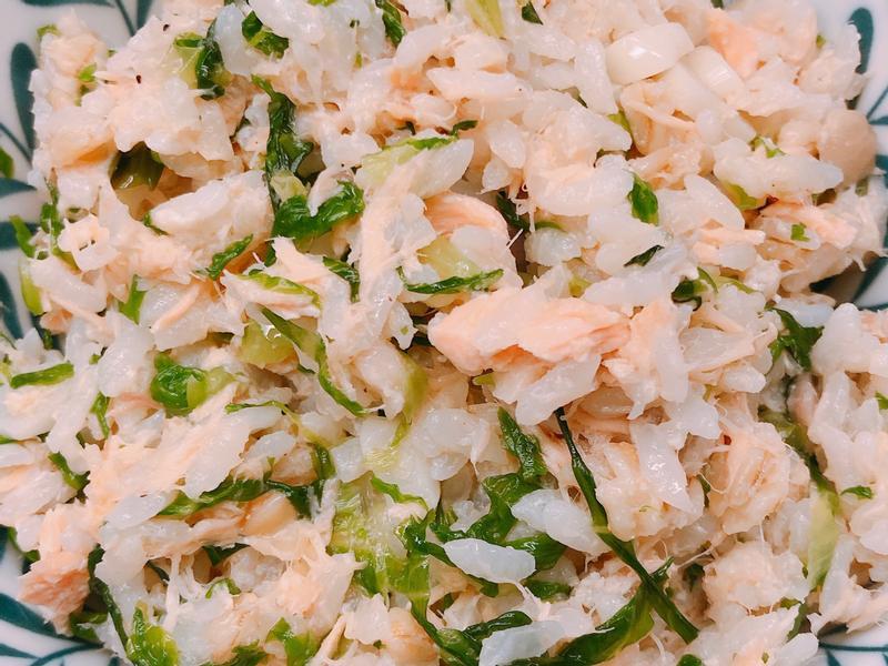 鮭魚蔬菜燕麥炒飯