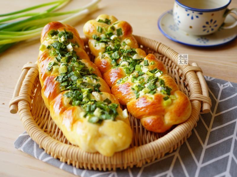 大人小孩都愛的台式~香蔥辮子麵包!(影片