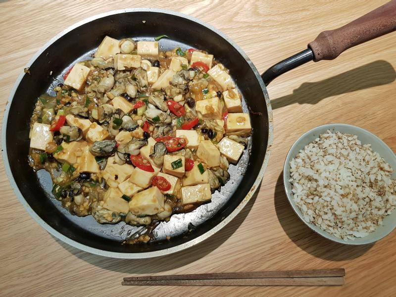 鐵板豆豉鮮蚵豆腐