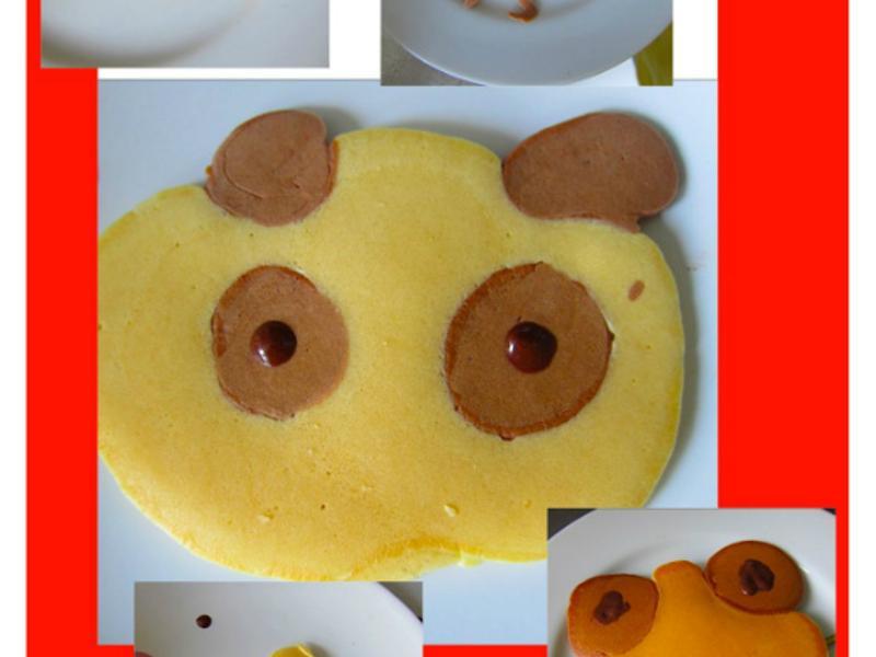 自己做 超級cute的造型鬆餅