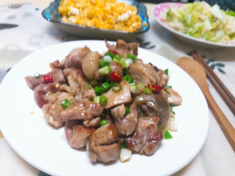 香蒜蔥燒雞腿(椒鹽風味)