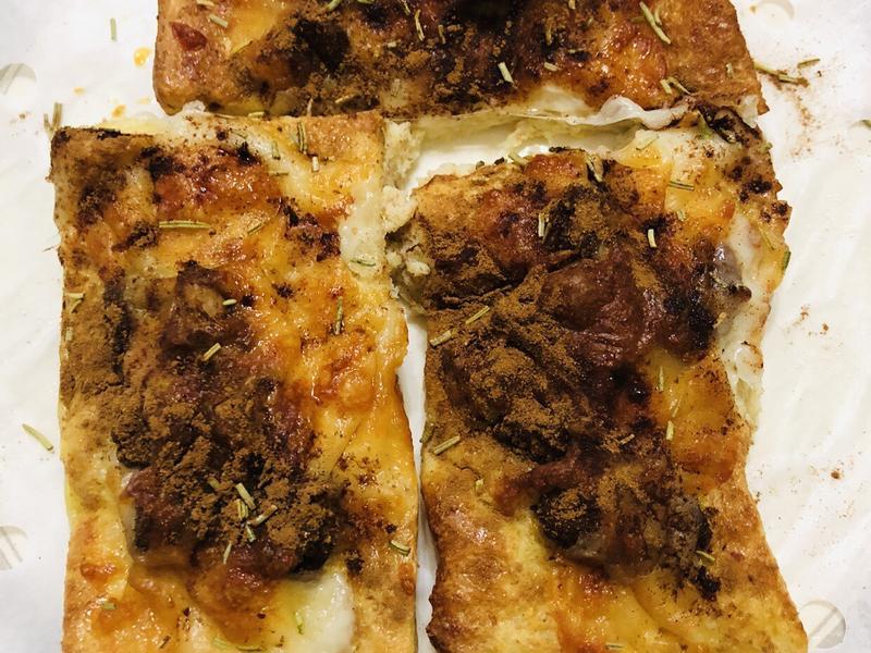 雞丁焗烤土司(氣炸鍋料理)