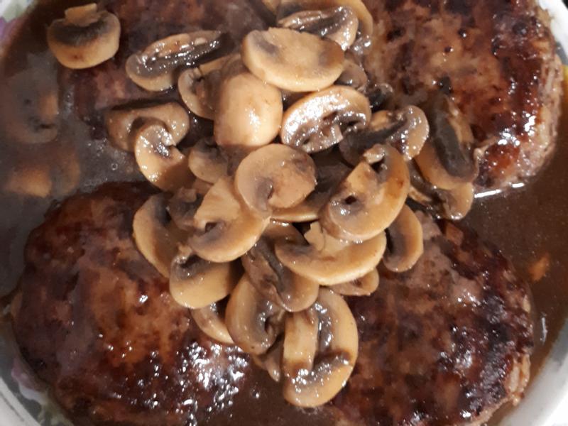 蘑菇漢堡排