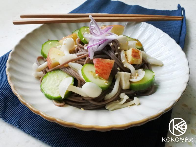 日式菇菇小黃瓜涼麵【好菇道營養料理】