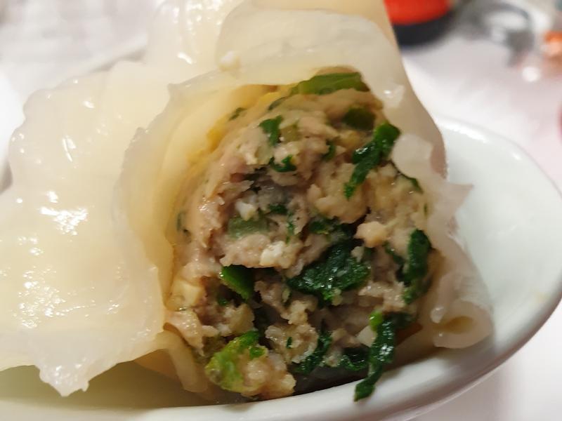 雞蛋菠菜水餃