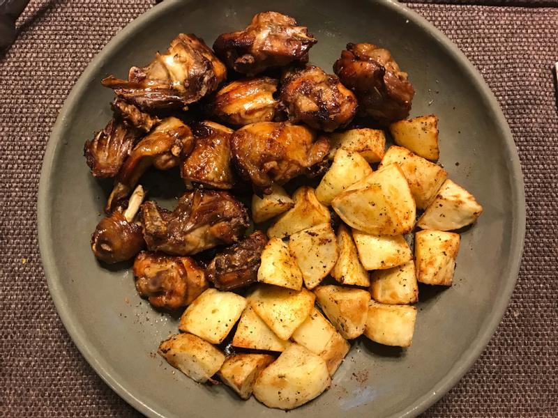 [氣炸鍋]雞肉&馬鈴薯塊