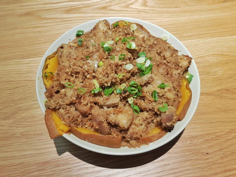 南瓜粉蒸五花肉