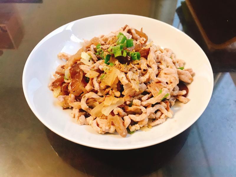 木耳炒豬肉絲(減醣料理)