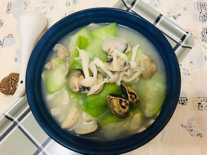 絲瓜蛤蠣湯[好菇道營養料理]家常菜