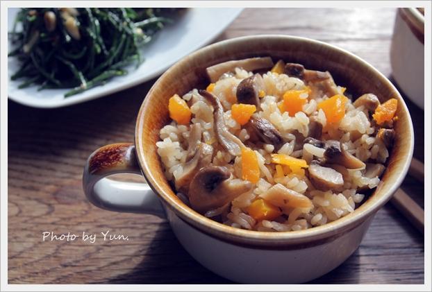 【四季江戶味之秋季料理】南瓜鮮菇雜炊飯
