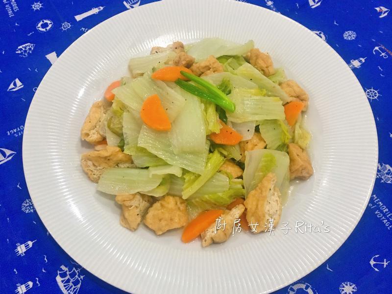 油豆腐炒天津大白菜