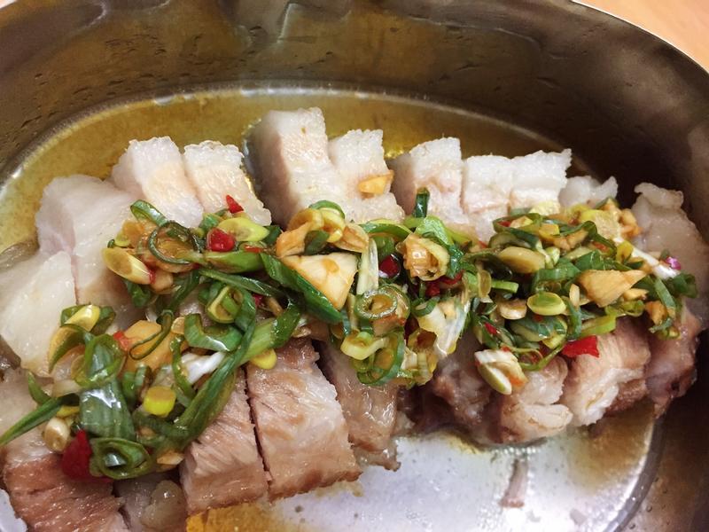 清蒸五花肉(酸辣醬)
