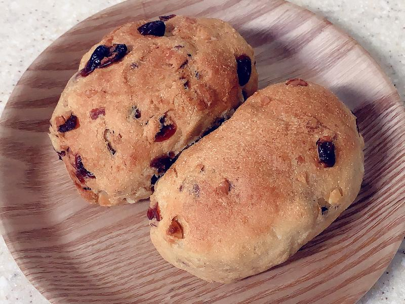 高纖微醣-蔓越梅堅果歐式麵包(氣炸鍋版)