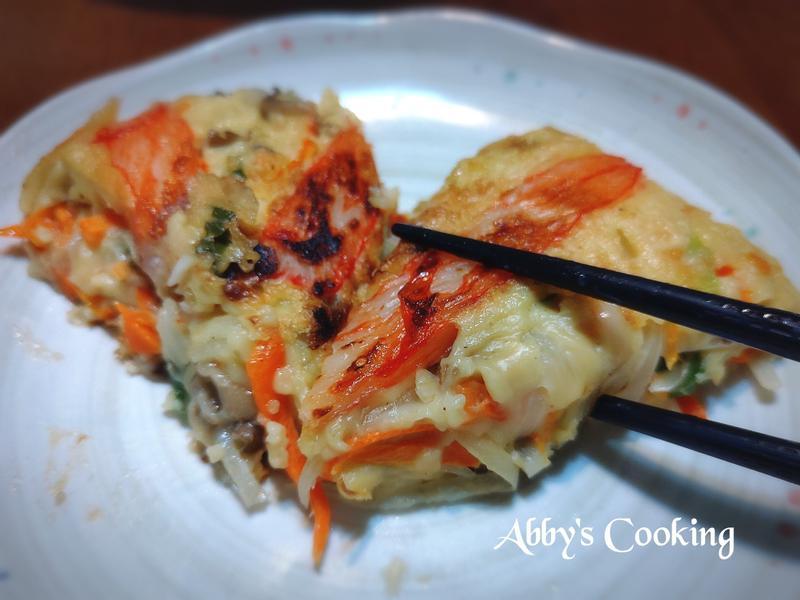 蟹味棒蔬菜煎餅