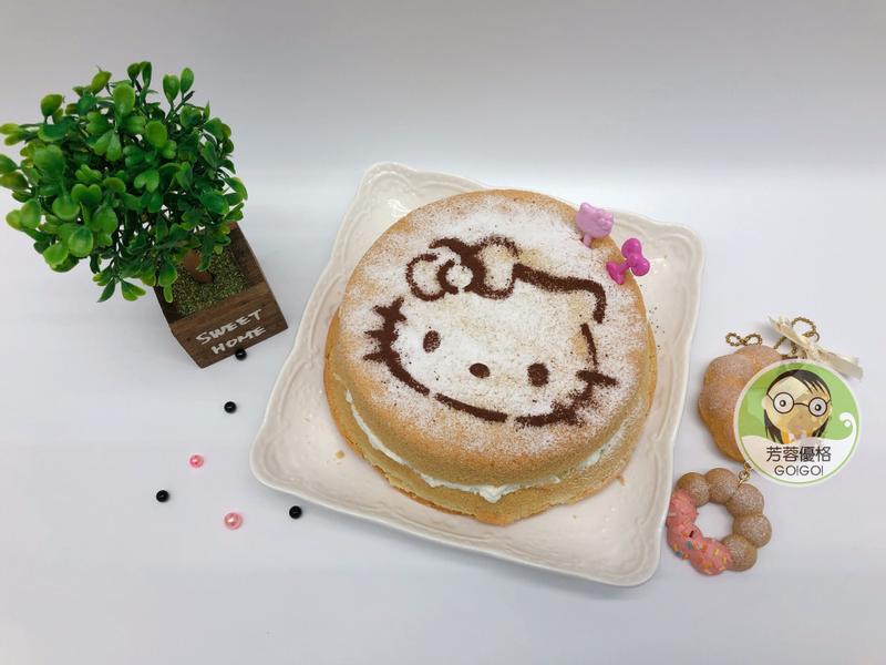 蝶豆花優格核桃鮮奶油蛋糕