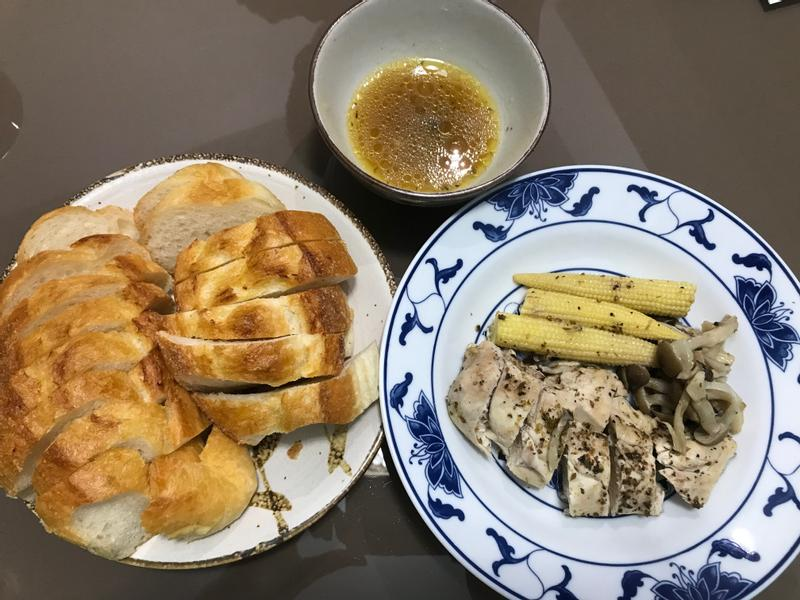 奶油香料蒸烤鮮蔬雞胸肉